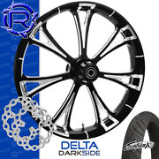 Rotation Delta Darkside Custom Motorcycle Wheel Front Package Harley Touring 26