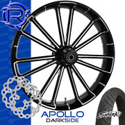 Rotation Apollo Darkside Custom Motorcycle Wheel Front Package Harley Touring 26