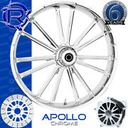 Rotation Apollo Chrome Custom Motorcycle Wheel Front Harley Touring Baggers 21