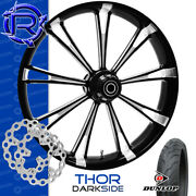 Rotation Thor Darkside Custom Motorcycle Wheel Front Package Harley Touring 21