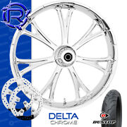 Rotation Delta Chrome Custom Motorcycle Wheel Front Package Harley Touring 21