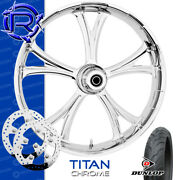 Rotation Titan Chrome Custom Motorcycle Wheel Front Package Harley Touring 21
