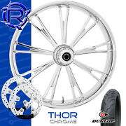 Rotation Thor Chrome Custom Motorcycle Wheel Front Package Harley Touring 21
