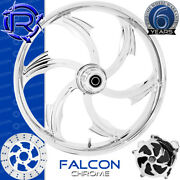 Rotation Falcon Chrome Custom Motorcycle Wheel Front Harley Touring Baggers 21