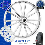 Rotation Apollo Chrome Custom Motorcycle Wheel Front Package Harley Touring 21