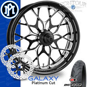 Performance Machine Galaxy Platinum Cut Wheel Front Package Harley Touring 21