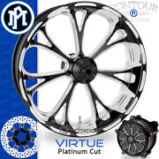Performance Machine Virtue Platinum Cut Front Wheel Package Harley Touring Pm