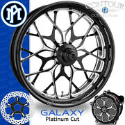 Performance Machine Galaxy Platinum Cut Front Wheel Package Harley Touring Pm