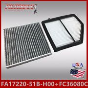 Fa9150 Fc36080ccarbon Engine And Cabin Air Filter 2016-2018 Hr-v 1.8l