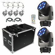 Chauvet Intimidator Trio Led Moving Head Beam Wash Effect 6-led Rgbw Package