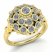 Genuine 4ct Round Cut Diamond Womenand039s Bridal Vintage Engagement Ring 10k Gold