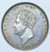 Extremely Rare 1825 Proof Shilling British Silver Coin From George Iv Afdc