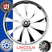 Renegade Lincoln Chrome Custom Motorcycle Wheel Harley Touring Baggers 21