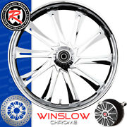 Renegade Winslow Chrome Custom Motorcycle Wheel Harley Touring Baggers 21