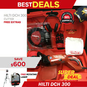 Hilti Dch 300 Electric Diamond Cutters, Preowned, Free Rotatig Laser, Fast Ship