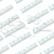 1991 - 1994 Chevy Caprice Station Wagon Rear Drum Brake Line Set Stainless 9pc