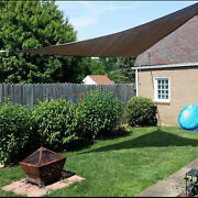 Brown Sun Shade Sail Permeable Equilateral Triangle Canopy Lawn Patiopool Awning