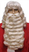 Santa Claus Set Supreme White Wig And Wide Beard With Mustache Christmas 004l