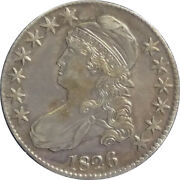 1826 50c Capped Bust Half Dollar - Extremely Strong Strike And Hair Details