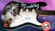 Bo Diddley Autographed Signed Custom Airbrush Guitar Psa/dna Aftal