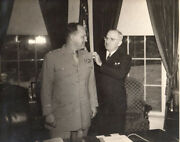 President Harry Truman And Harry H Vaughan Signed Dated Photo Psa/ Aftal