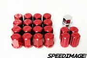 Work Wheels Racing Rs Type 12x1.25 Thread Pitch Red Forged Lug Nuts Duraluminum