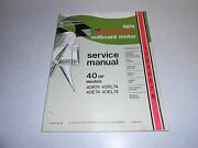 1974 40 Hp Genuine Johnson Evinrude Outboard Repair And Service Manual 25hp