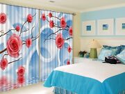 3d Pink Ring Roses 62 Blockout Photo Curtain Curtains Drapes Fabric Window Ca
