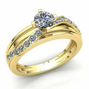 Genuine 2ctw Round Cut Diamond Ladies For Her Solitaire Engagement Ring 14k Gold