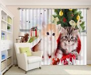 3d Christmas Cats 52 Blockout Photo Curtain Curtains Drapes Fabric Window Ca