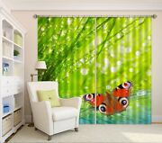 3d Butterfly Plant 4 Blockout Photo Curtain Curtains Drapes Fabric Window Ca