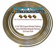 Copper Nickel Fuel Line Tubing 5/16 25 Ft Coil Roll And 1/2-20 Fittings Usa Cn5