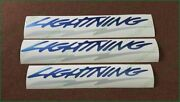 Ford F-150 Lightning Complete Decals Stickers Set Light Blue And Reflective Colors