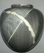 VTG STUDIO ART POTTERY VASE POSSIBLE ORIGIN JAPAN IMPRESSED MAKERS MARK UNKNOWN