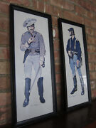 Rare Vtg Prints Civil War Era Soldiers. Union And Confederate Officers In Uniform