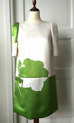 Louis Vuitton Spring 2013 Rtw Green And White Floral Print Dress Size 36