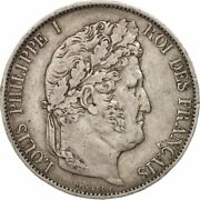 [16255] France Louis-philippe 5 Francs 1848 Strasbourg Ef40-45 Silver
