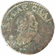[20550] French States Double Tournois 1634 Km 3 Vf20-25 Copper Boudeau
