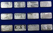 The History Of World War Two Sterling Silver 24 Ingot Set 1 Oz Troy Lincoln Mint