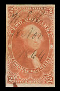 Momen Us Stamps R83a Used Revenue Imperf Scarce Pse Cert