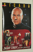 1992 Star Trek The Next Generation Tng Captain Luc Picard 36 By 24 Inch Poster