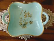 Staffel Limburg Echt Dom Keramik Ceramics/Turquoise Blue Handled Dish/Germany
