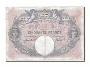 [250213] France 50 Francs 50 F 1889-1927 And039and039bleu Et Roseand039and039 1918 Km 64e