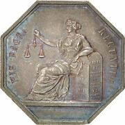[400550] France Notary Token Ms60-62 Silver 30 Lerouge 33 11.90