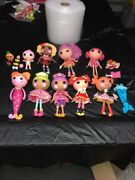 Lalaloopsy Full Size Dolls - Lot Of 9 Gently Used Dolls With Clothes And Acc
