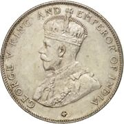 [503130] Straits Settlements George V 50 Cents 1921 Ms60-62 Silver