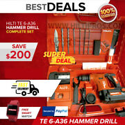 Hilti Te 6-a36-avr Cordless Hammer Drill, Brand New, Free Bits And Knife,fast Ship