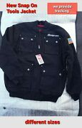 2018 Model New Snap On Tool Mens Insulated Black Winter Coat Zip Up Jacket