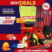 Hilti Te 60 Hammer Drill,one Of The Best, Free Tablet And More, Made In Germany