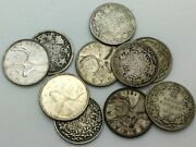 Canada 1874h 1965 Coin Lot 25 Cents Quarter Collector Coins10 All Different